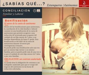 Conciliación familiar y laboral para autónomos de los estancos